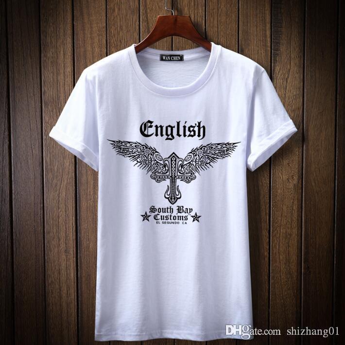 Nouveau mode T-shirt décontracté à manches courtes en coton confortable impression casual hommes respirant T-shirt k1