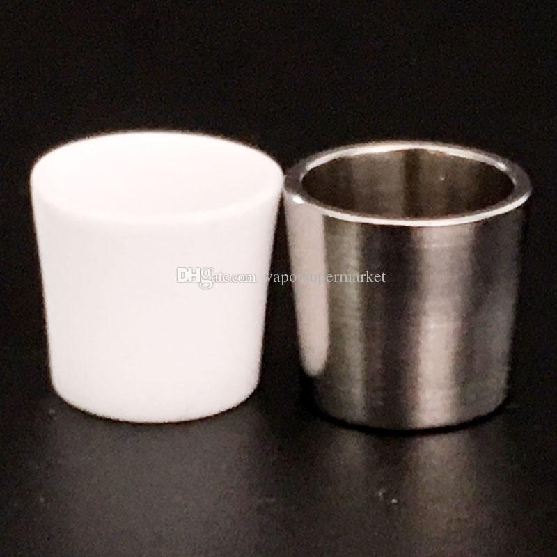 Großhandel Spitzen Quarz-Insert Schüssel Titan Schüssel Stück mit dicken Echt Quartz Spitzeneinsätzen Schüsseln Für Tabak Dab-Werkzeug