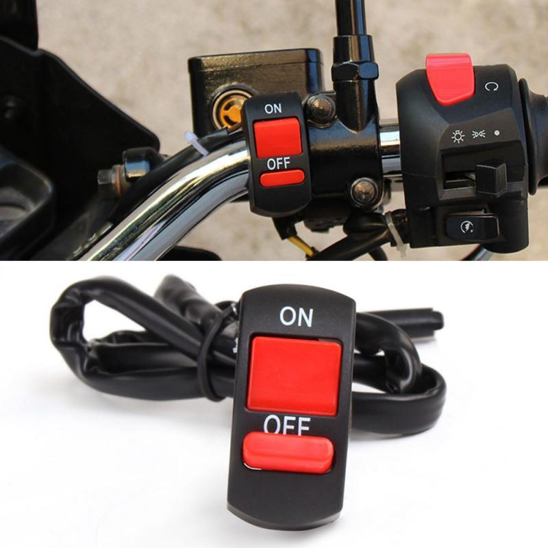 DC12V Universal 10A Moto Guidon Flameout Enclencher Bouton Motorcycle Pièces pour Moto Moteur VTT Vélo