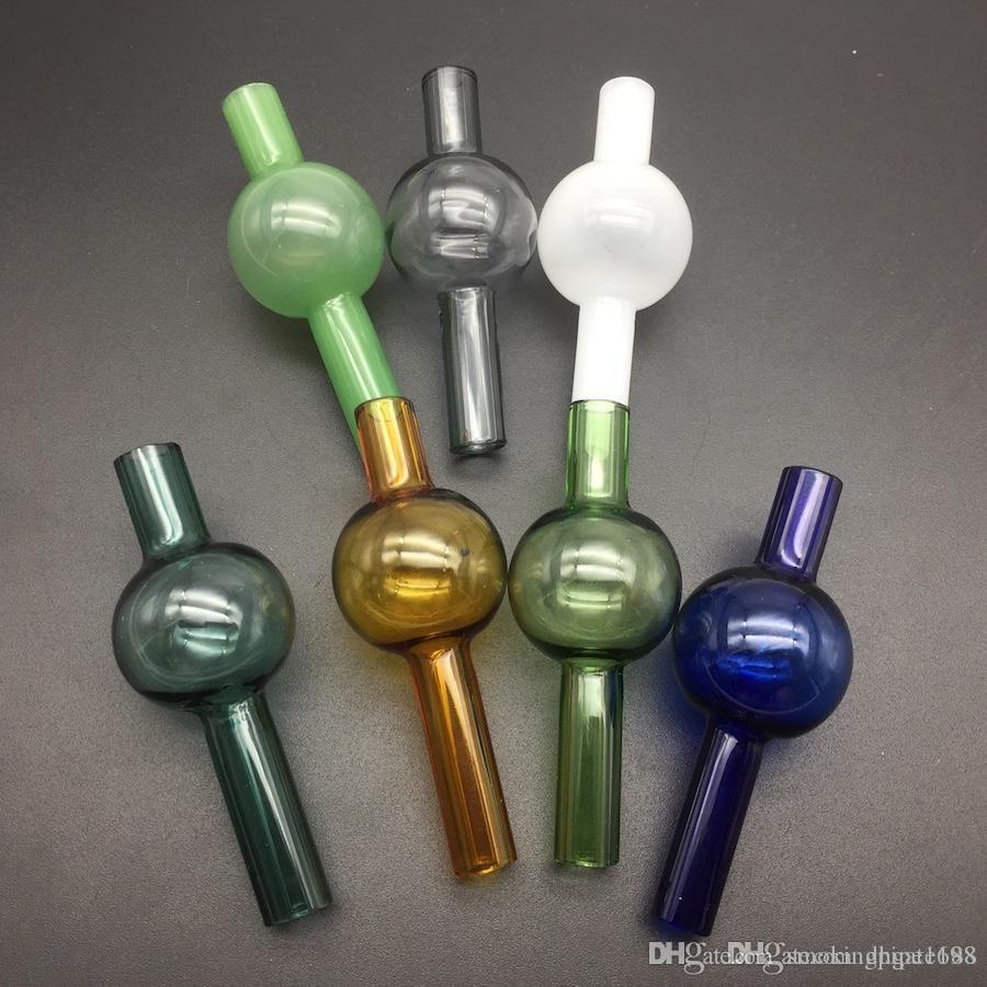 Mix universel bouchon de carb de bulle de verre coloré rond dôme sphérique pour conduites d'eau en verre clous de pétards thermique quartz épais XL, limande plates-formes pétrolières