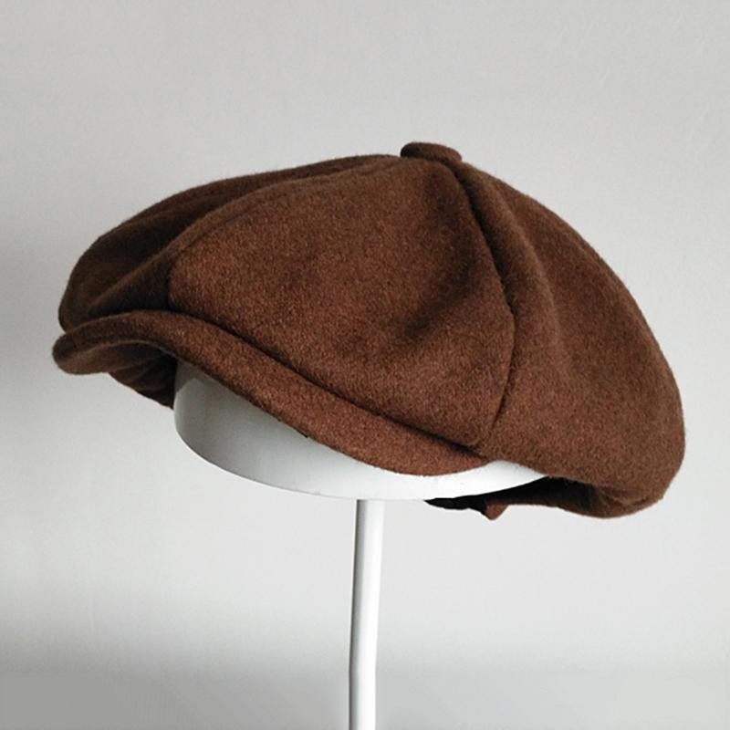 Marka Yün Newsboy Erkekler Düz Caps Kadınlar Kahve İngiliz Gatsby Cap Sonbahar Kış Yün Şapka Üst Sınıf Bereliler Dropshipping BLM67 Caps