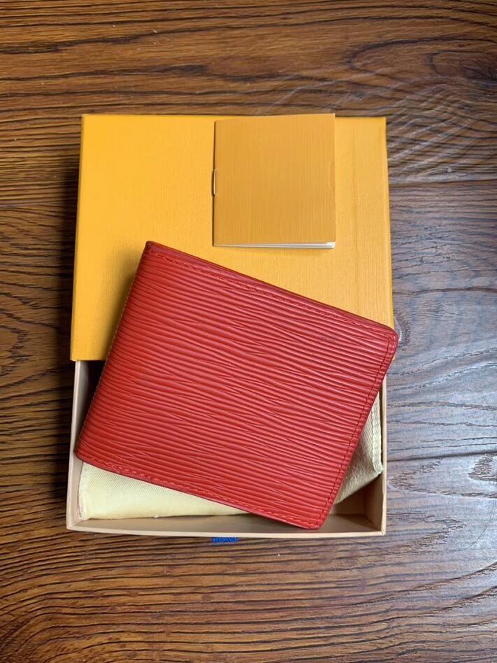 2020 hombres de las mujeres del diseñador billetera de cuero cartera de la carpeta corta con la caja, marco de la bolsa de polvo manual de una variedad de estilos