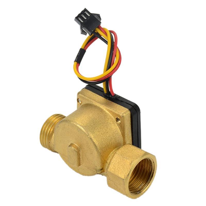HOT-1Pcs G1/2 Water Flow Sensor Dn15 F=10Q 1-30L/Min Hall Flow Meter Copper Water Control Machine Heater Flowmeter