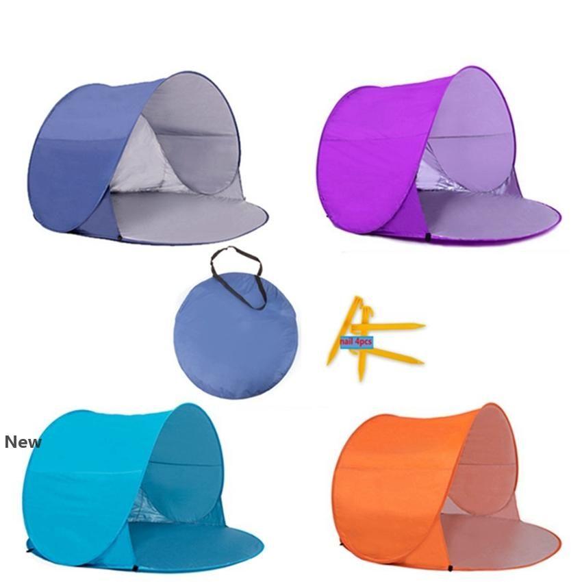 Полностью автоматический Берег палаточных Детская палатки Двойной УФ Защита для кемпинга Зонт Детей Открытого анти УФ Складных Палатки HHA1304
