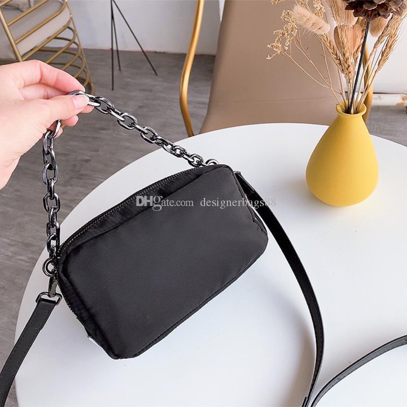 Più nuova borsa fotografica doppia cerniera impermeabile borse antiusura borse nylon donne portatili catena del sacchetto di spalla crossbody