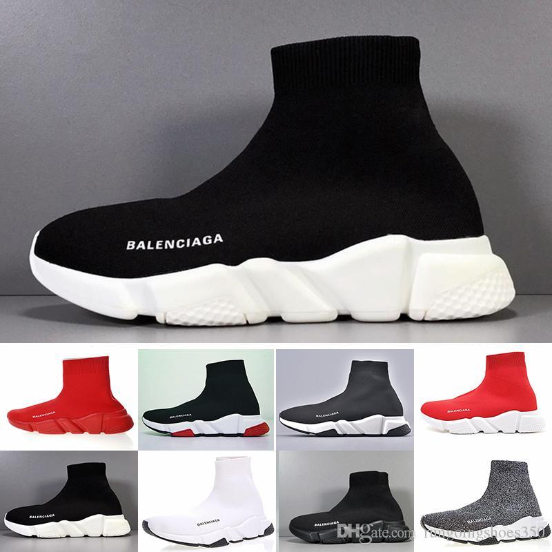 Balenciaga 2019 Nouvelle arrivée Flair Hommes Coussin Designers Chaussures de course Triple Noir sport blanc Sneakers Zapatillas Hombre Top qualité A5CTT