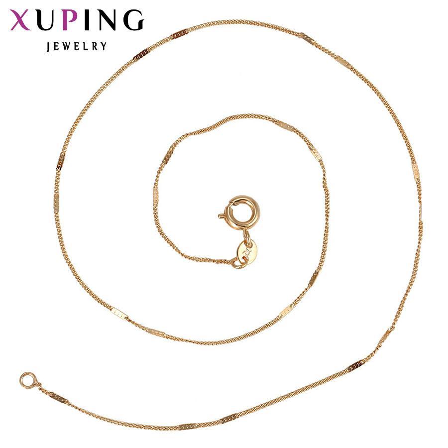 11.11 collana di modo Xuping nuovo disegno lungo color oro unisex catena gioielli superiore di vendita regalo S13.1-42638