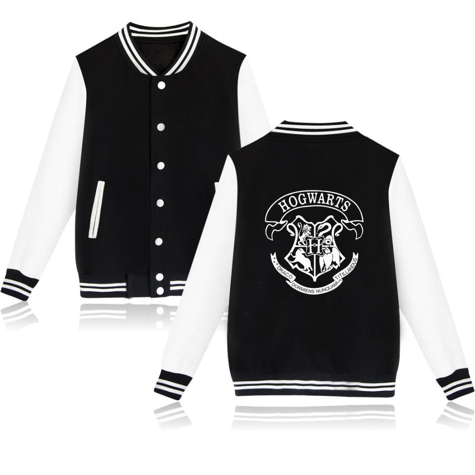 HOGWARTS Baseball-Jacke Männer / Frauen Uniformmantel Winter-Mode Pullover Sweatshirt Hip-Hop-College-Frauen Jacken Kleidung
