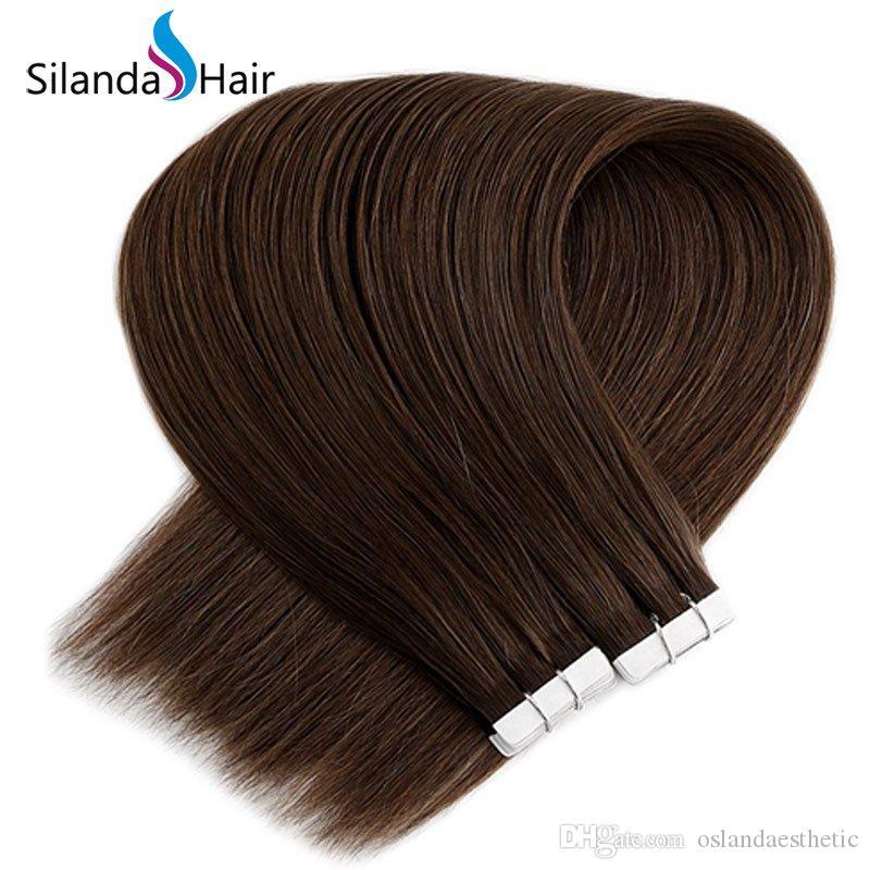 # 6 Reta 100% Tape Remy Cabelo Humano Em extensões de cabelo 20 Pcs / embalar frete grátis