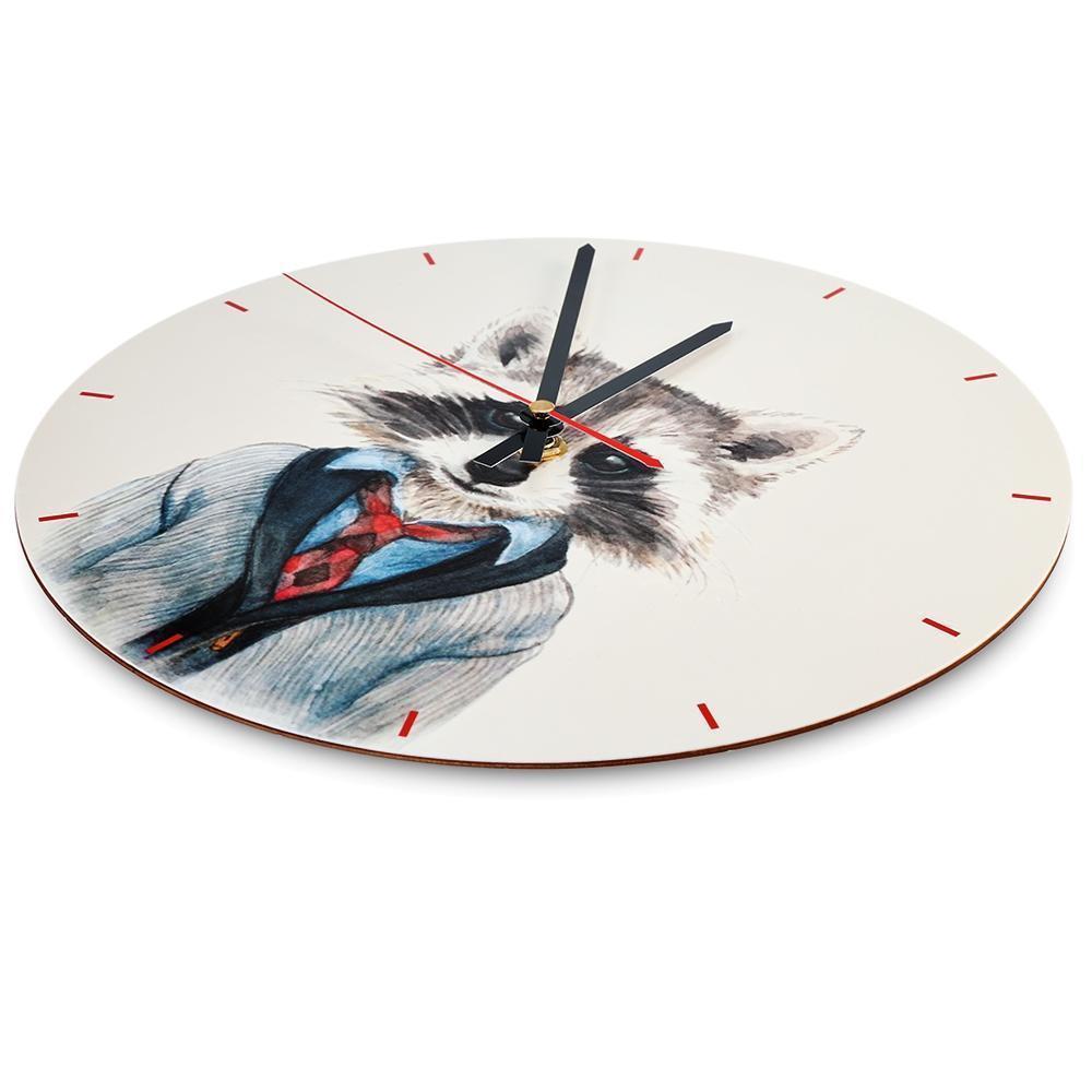Orologio da parete del fumetto minimalista moderno acrilico rotonda europea