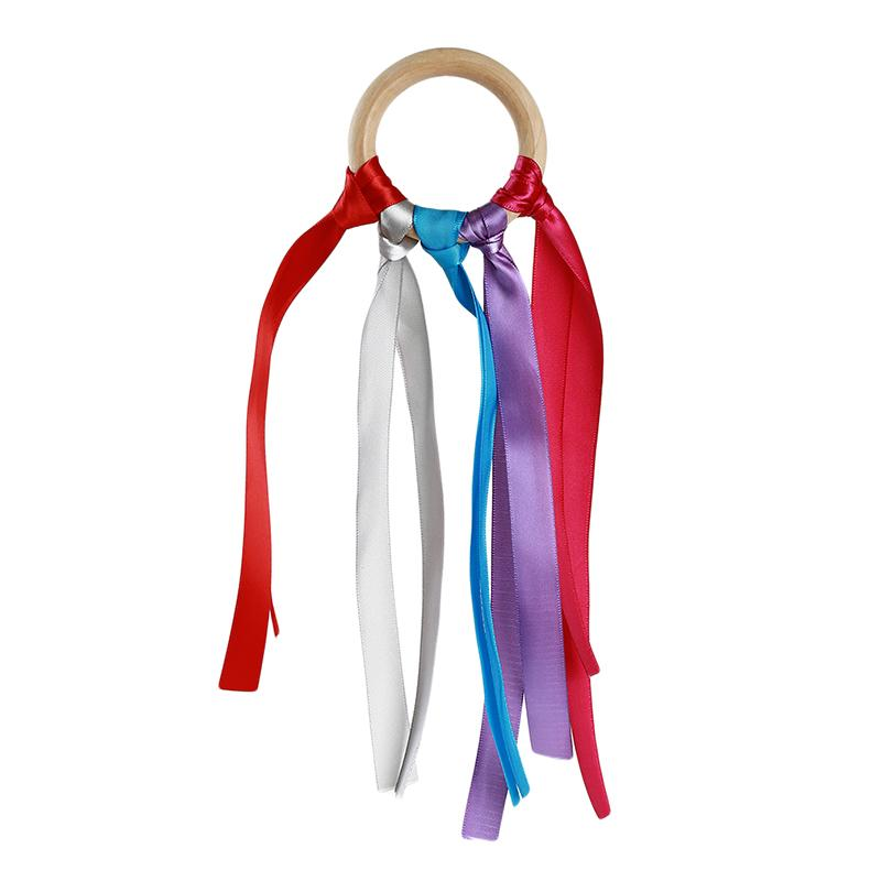 5pcs Rainbow Colored nastro Splice Colorful Danza Nastro Arte Ginnastica Ribbon Ballet filante giocattolo del bambino Sport