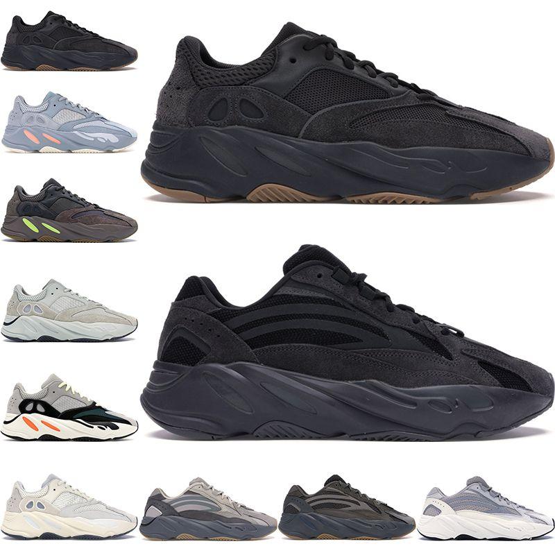 2020 ساكنة الجمود 700 البرتقال الثلاثي فائدة سوداء الرجال السود النساء أحذية رياضية جديد 700 V2 تيفرا الاحذية 36-46