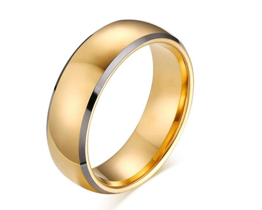 Tungsten steel Male Zirconia ring Iced Out mens jewelry Retro Cool Hip hop top quality New