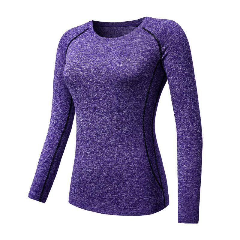 Женская спортивная футболка с длинным рукавом Quick-Dry Тренажерный зал Yoga Tops Tee 9282 New