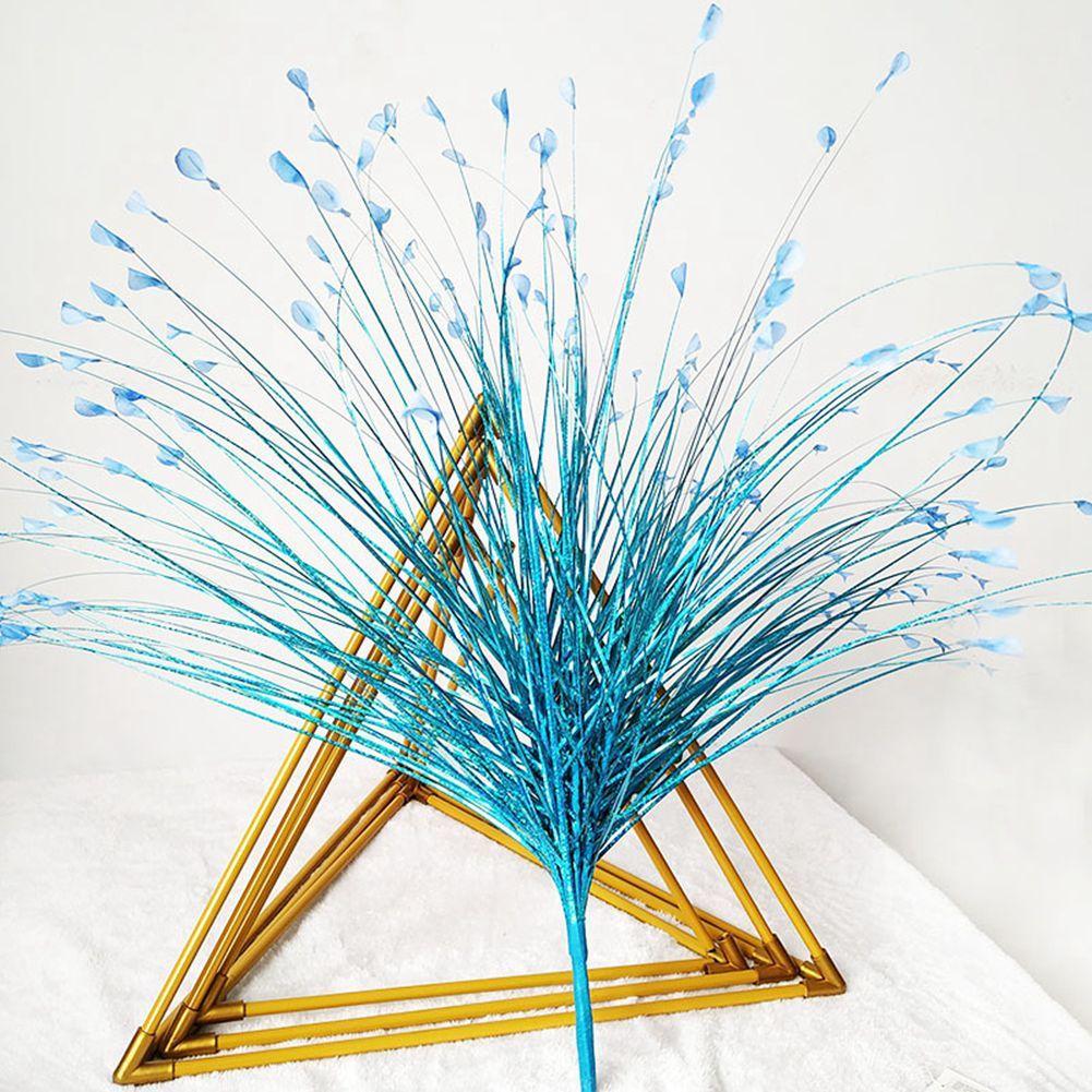 2020 Fake Peacock Feather Onion Grass Spray Artificial ...
