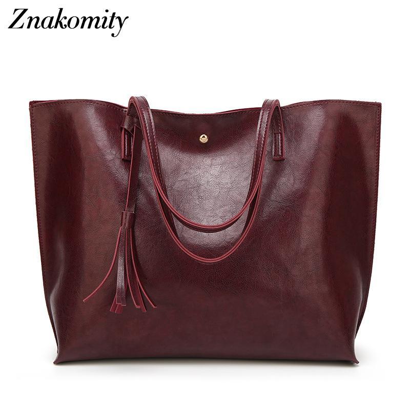 Znakomity retrò grandi sacchi per le donne 2018 sacchetti di grande tote di mano delle signore top-handle casuale femminile di grande capacità 8 colori