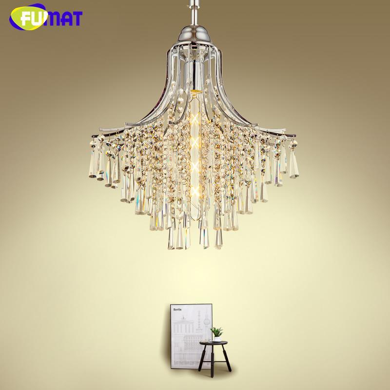 FUMAT Restaurante Moderno Luces Colgantes Arte de Lujo K9 Cristal Colgante de Luz Para la Sala Comedor LED Chrome Lámpara Colgante