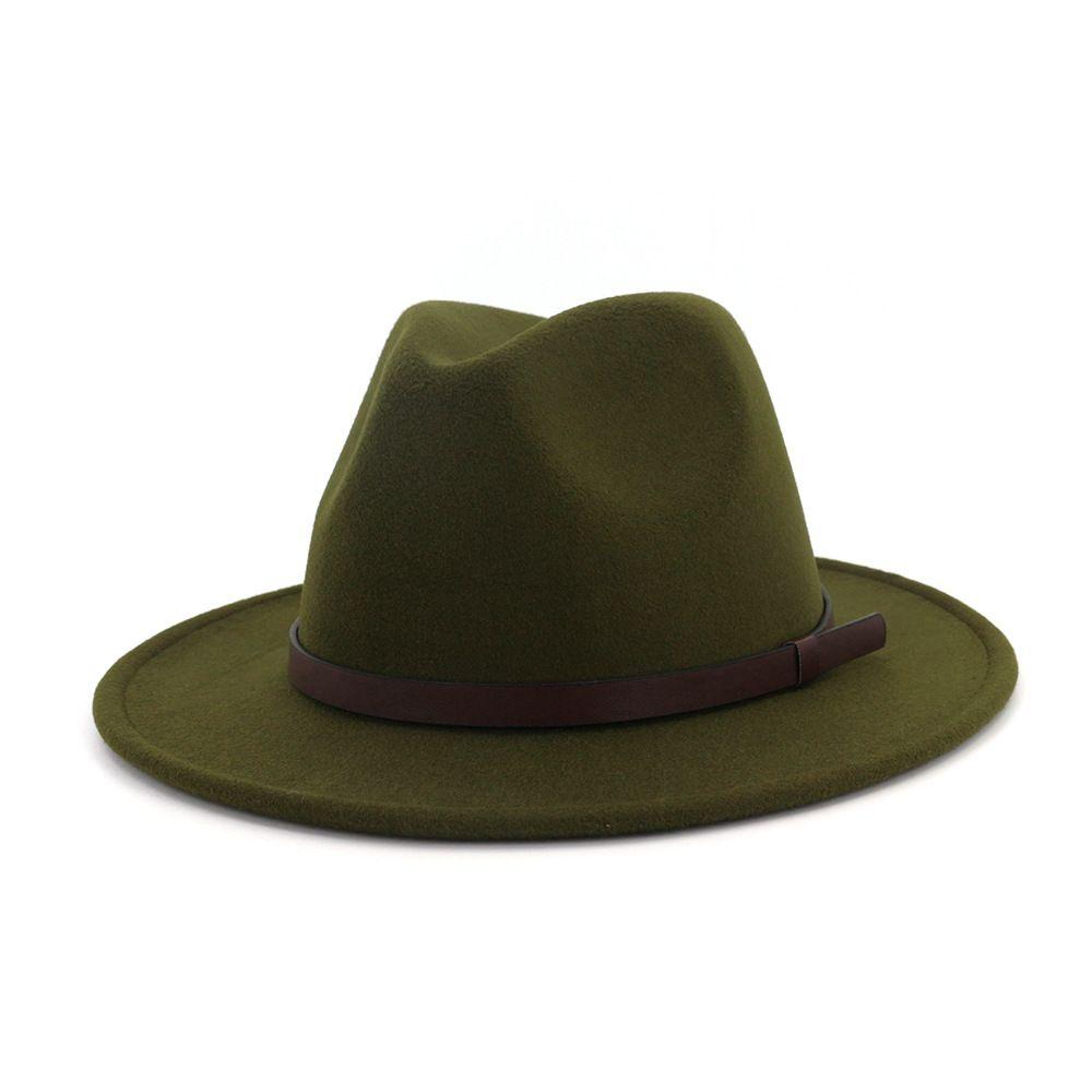 2019 otoño y del invierno del color sólido sombrero de ala ancha de viajes a Cap sombreros de ala del sombrero del jazz sombreros de Panamá para las mujeres y una niña 43