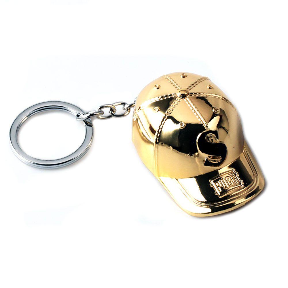 Playerunknown في ساحات القتال 3D سلسلة المفاتيح عموم S قبعة البيسبول كاب نموذج PUBG سبيكة حلقة مفاتيح زجاجة بيرة فتاحة سحر هدية مجوهرات