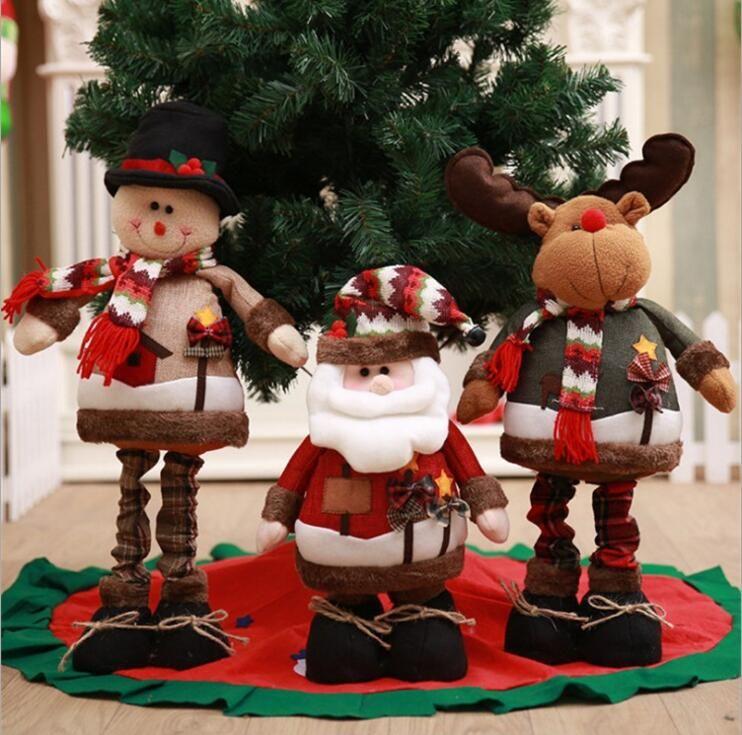 Рождественские поставки полноценного белья Рождество стрейч постоянный Санта снеговик куклы рождественские украшения окна отель, магазин, home decorati