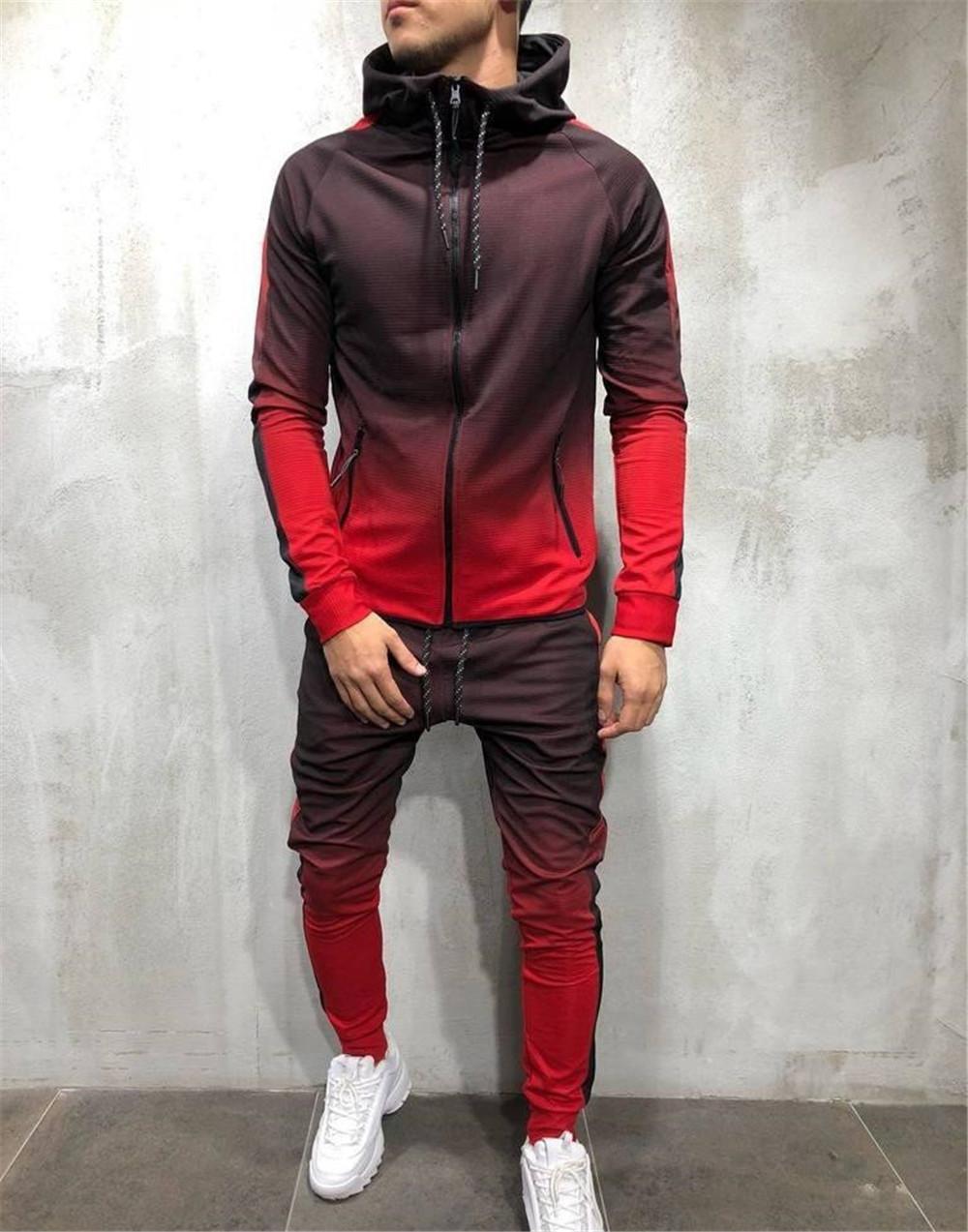 Frühling Hiphop Herren Tracksuits Designer Cardigan Pullover lange Hosen 2pcs Kleidung Sets Fashion Male Pantalones Outfits