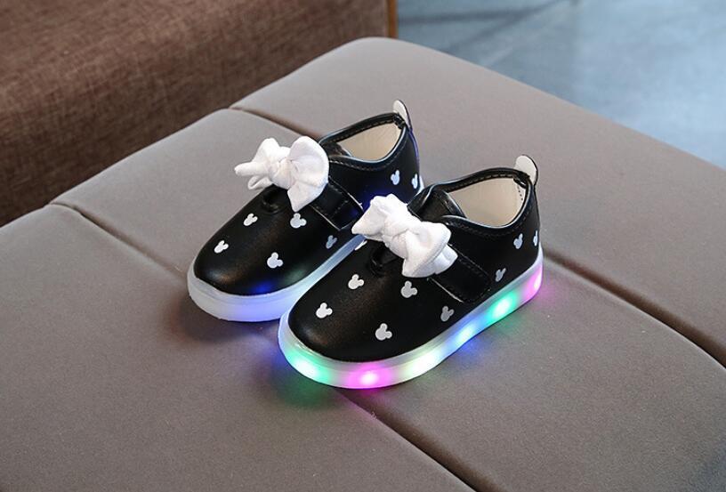 Baby Girl Designer Shoes LED Light