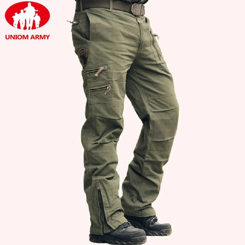 Pantaloni tattici dell'esercito Maschio Camo Jogger Plus Size pantaloni del cotone Molti tasca con zip Cargo Pants stile militare a uomo Nero Camouflage Y200114