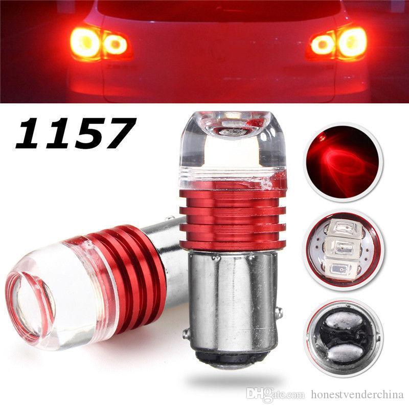 4pcs LED flash stroboscopique 1157 ba15s bay15d P21W P21W / 5W frein clignotant lampe ampoule 12v rouge blanc bleu stop lumière queue automatique