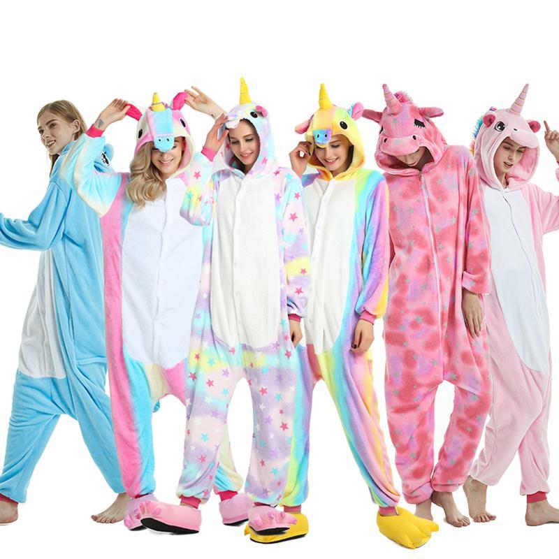 Unisex Adult Animal Kigurumi Pyjamas Sleepwear  Dress Unicorn