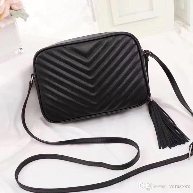 VeraStore 23cm de calidad superior Bolso diseñador de los bolsos de la borla de, bolsos de lujo del cuero de mujeres famosas marcas Mujer