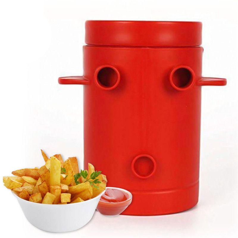 2 em 1 Fries Microondas francês Fry Cortadores Fogão Crispy Batata Frita de Fresh Potatoes Slicers Container