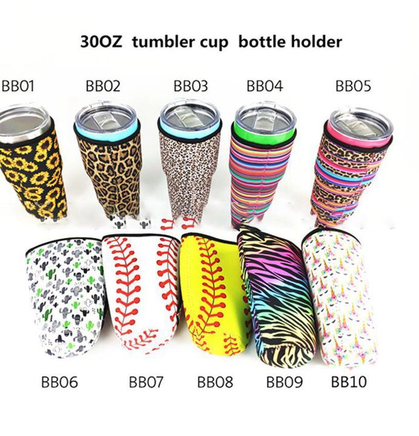 البيسبول والكرة اللينة غطاء زجاجة المياه لمدة 30 أوقية استخدام كوب النيوبرين معزول كم حقيبة الحقيبة KKA7862