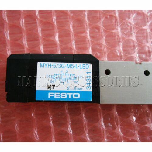 1pc nuevo Festo Válvula solenoide MYH-5 / 3G-M5-L-LED (34311) envío libre