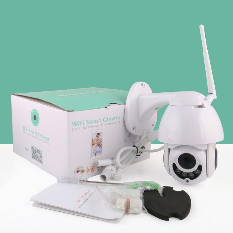 Anspo كامل HD 1080P في الهواء الطلق مقاوم للماء واي فاي PTZ كاميرا الأمن IP الأشعة تحت الحمراء للرؤية الليلية الاتحاد الافريقي التوصيل داخلي / في الهواء الطلق الكاميرا