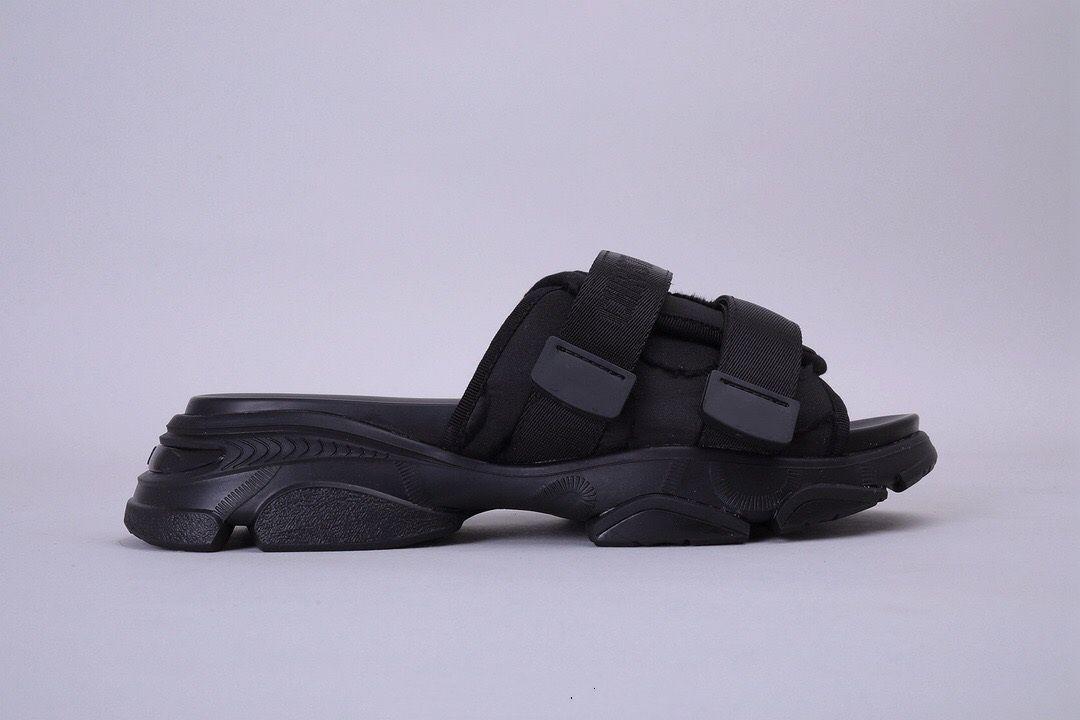Ücretsiz Kargo Kadın Beyaz D-WANDER Kamuflaj Naylon Slayt Tasarımcı Sandalet Terlik Yaz Moda Spor Platformu sandal plaj ayakkabıları