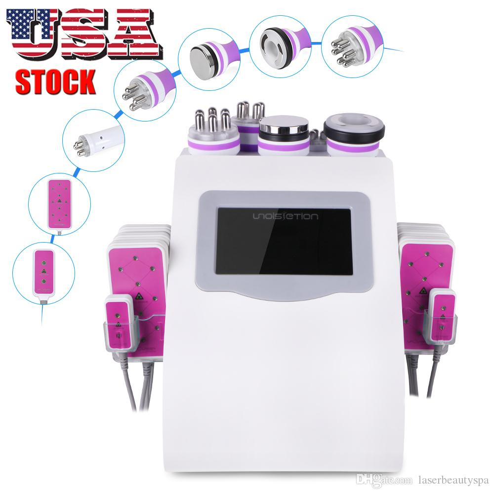 6 IN 1 Home Use Effective 40K Vacuum Ultrasonic Cavitation RF Body Slimming Weight Loss Photon Machine