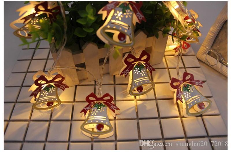 1.8 M 10 Led Bonhomme De Neige guirlande lumineuse fée Elk Bell Bougie DIY Lumière home Garden Santa Party Arbre De Noël Décor Toppers Pendant
