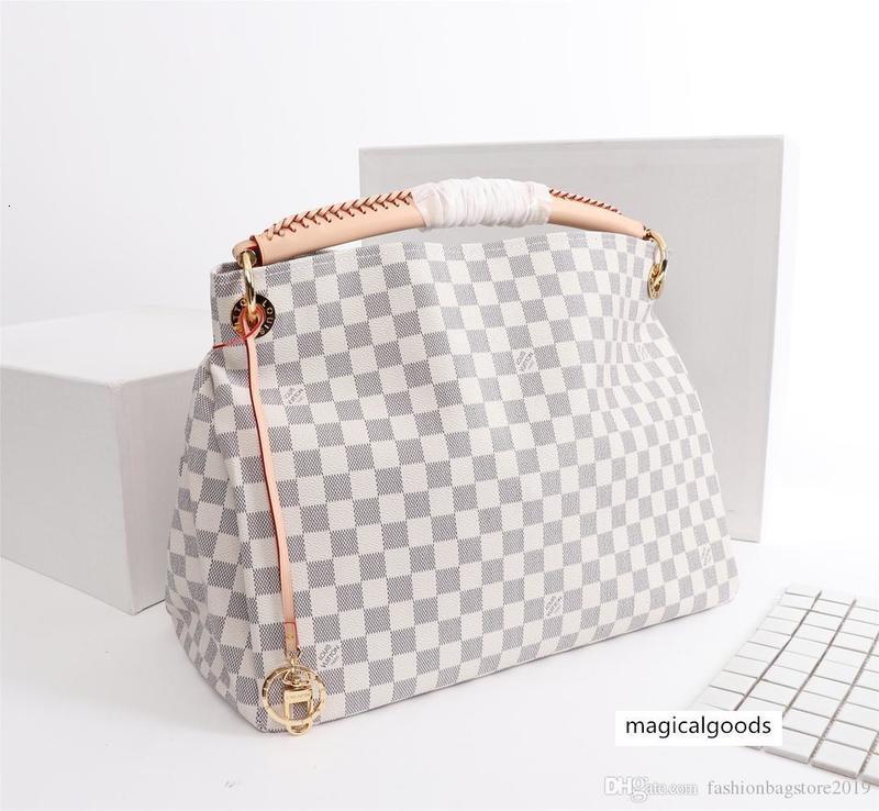 Tasarımcı Erkek ler seyahat Bayan çanta gerçek Çanta Deri Keepall 55 Omuz Çantaları kılıf M40249 mudium size46x 32x 24cm