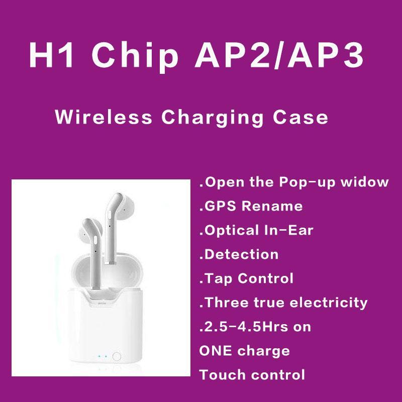 GPS переименование AP2 AP3 Mini TWS Bluetooth наушники H1 беспроводной зарядный чехол Air 2 3 Pro In-Ear Detection Pods PK i200 i10000