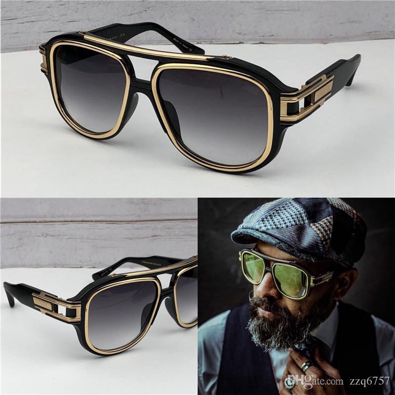 Hombres Moda Gafas de sol Vintage Metal Funda cuadrada G6 Gafas de sol Estilo de moda Nuevo marco UV 400 Lente con diseño LRQJG