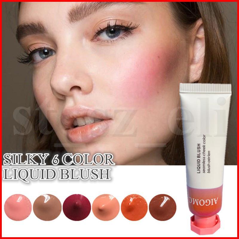 AIGOMC Face Makeup Blush Cosmetics Haze Beam Duck Puff Dawn Storm 6 colors Liquid Blush Makeup 10ml in stock