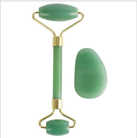 الطبيعية الخضراء dongling اليشم تدليك الأسطوانة آلة مزدوجة رئيس الأسطوانة تخريد الجمال الوجه