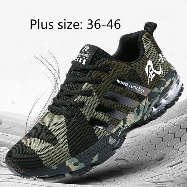 Mens Womens Fashion Camouflage Air Cushion Running Sneakers Unisex Outdoor Tennis  Shoes For Couples Breathable c1d4b34d28