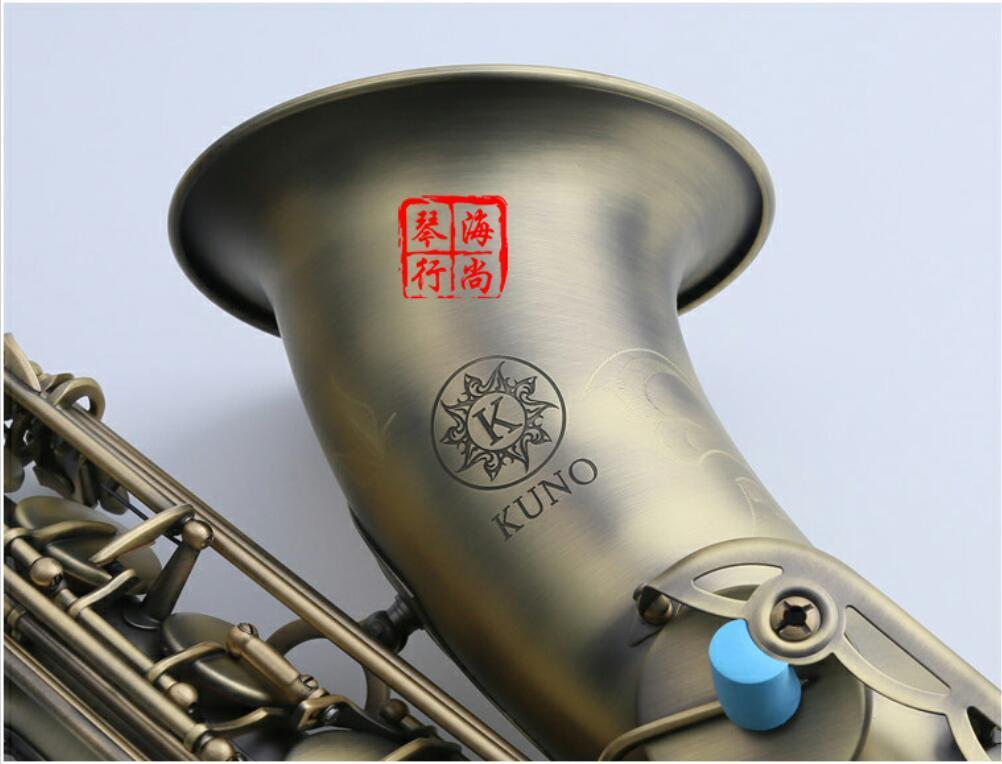 Strumento musicale Giappone KUNO KTS-901VL Tenor Saxophone rame antico B flat Sax professionale con il caso boccaglio
