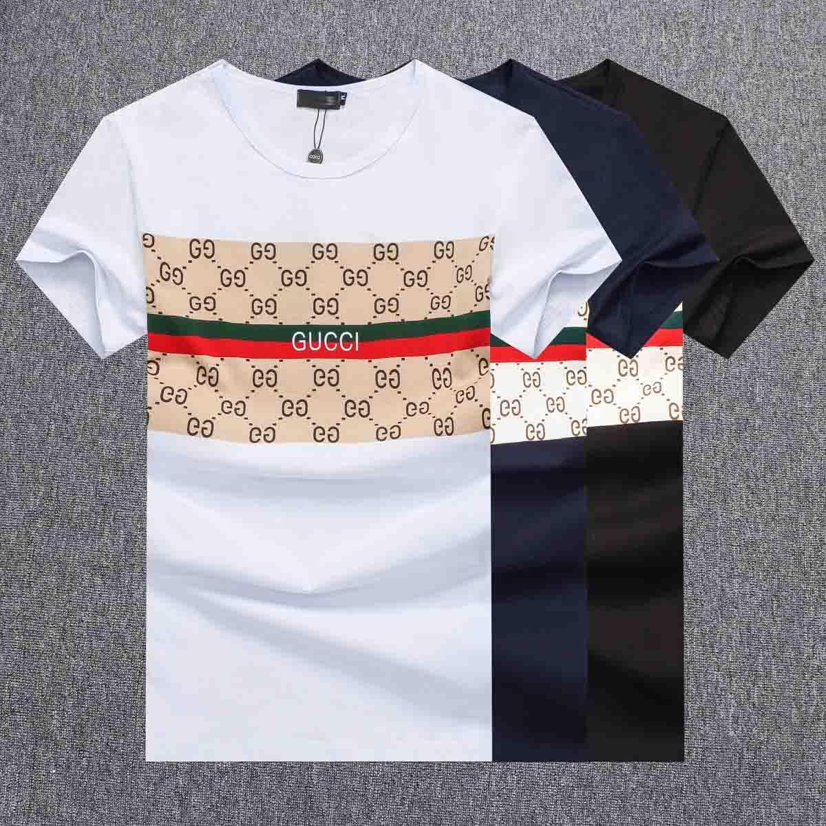 Hommes Designer T-shirts d'été marque-shirts respirants Medusa patterm imprimé T-shirt Hommes solide de luxe Hauts Taille XS-asiatique 5XL