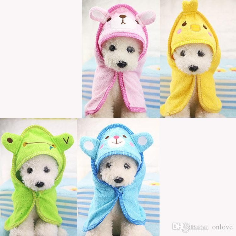 Cute Pet Dog Towel Soft Drying Bath Pet Towel For Dog Cat Hoodies Puppy Super Absorbent Bathrobes Dog Cleaning supply XD22464