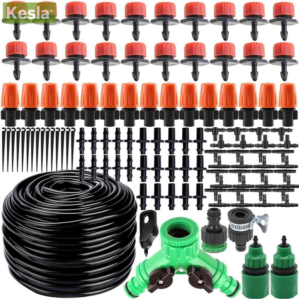 KESLA 25m Micro A irrigação por gotejamento Rega Kits Sistema Automático ajustável Dripper Atomizador para Planta de vaso Garden