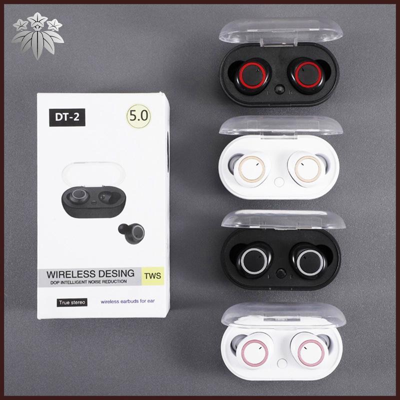 DT2 TWS DT2 Mini Twins sans fil Bluetooth 5.0 stéréo casque casque sport InEar écouteurs écouteurs avec chargeur Prise pour Smartphone