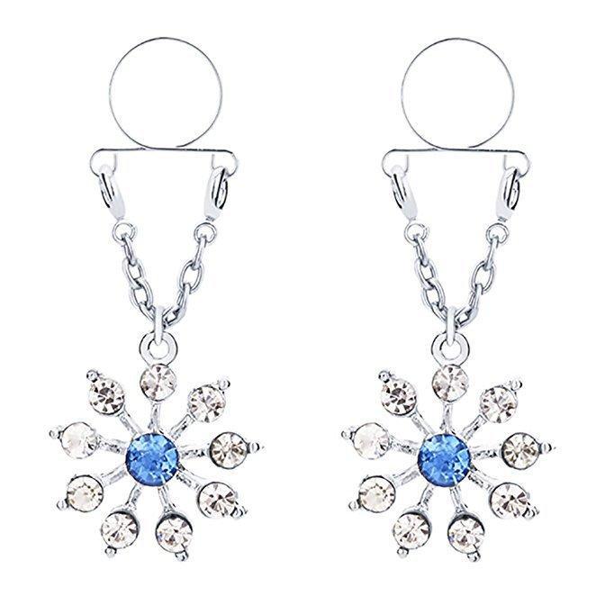 2019 New Rhinestone Crystal Nipple Shield Ring Breast Buckle Piercing Body Jewelry For Women