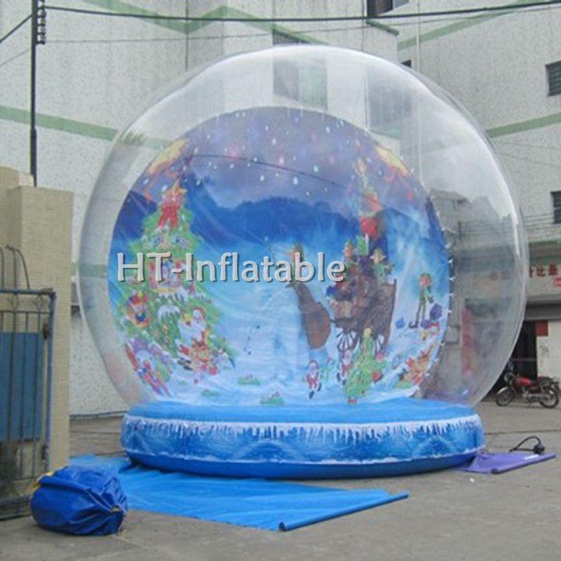 Freies Verschiffen 5m riesige aufblasbare Halloween-Schnee-Kugel / Halloween Aufblasbare Schnee-Kugel-Kugel für Weihnachten Custommized Backgroud